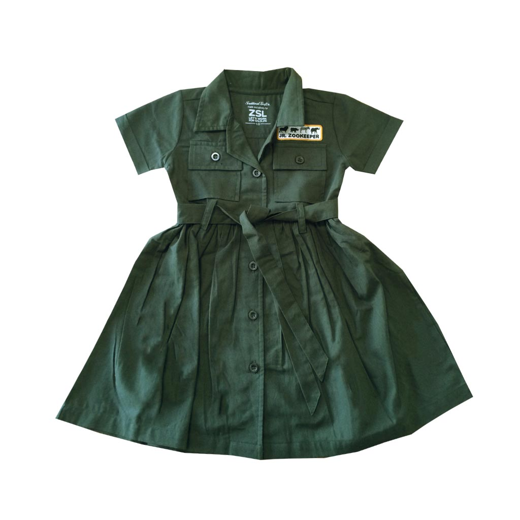 Junior Zoo Keeper Belted Dress, 1-2 yrs front