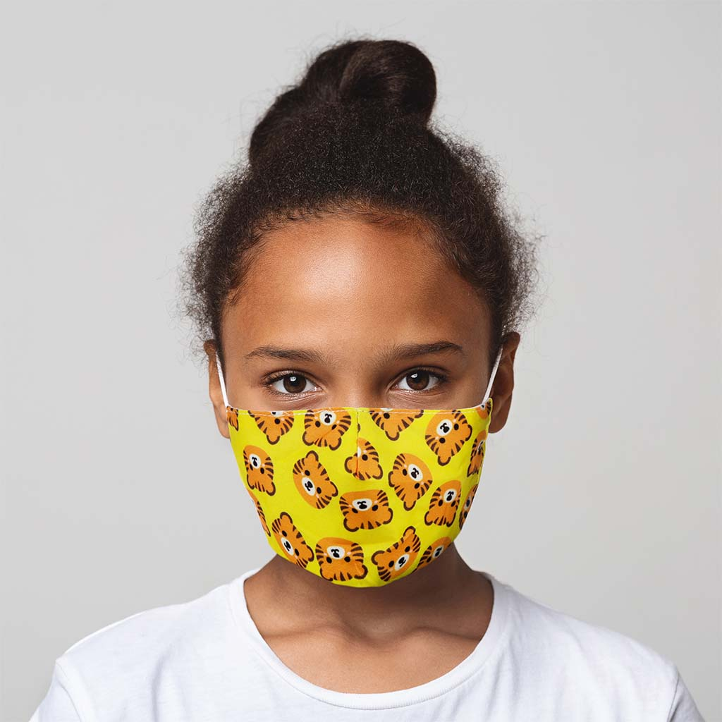 Reusable Tiger Face Mask, Children
