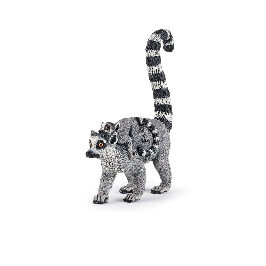 Papo ring tailed lemur and baby figure
