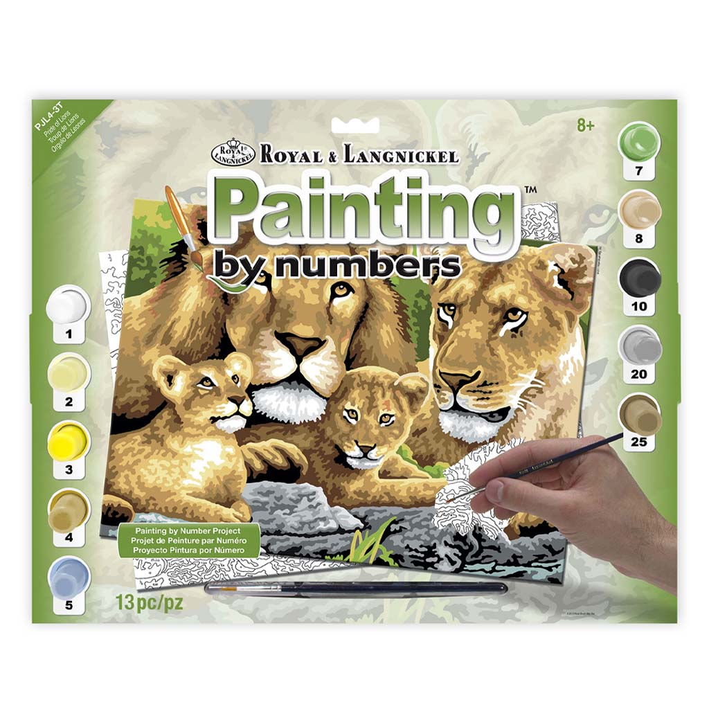 Pride of lions paint by numbers kit