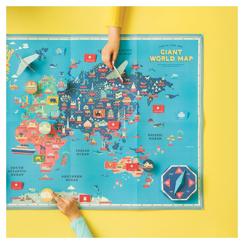 Create Your Own Giant World Map lifestyle