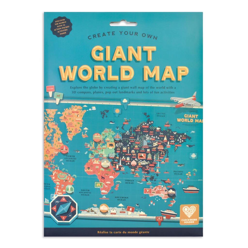 Create Your Own Giant World Map pack