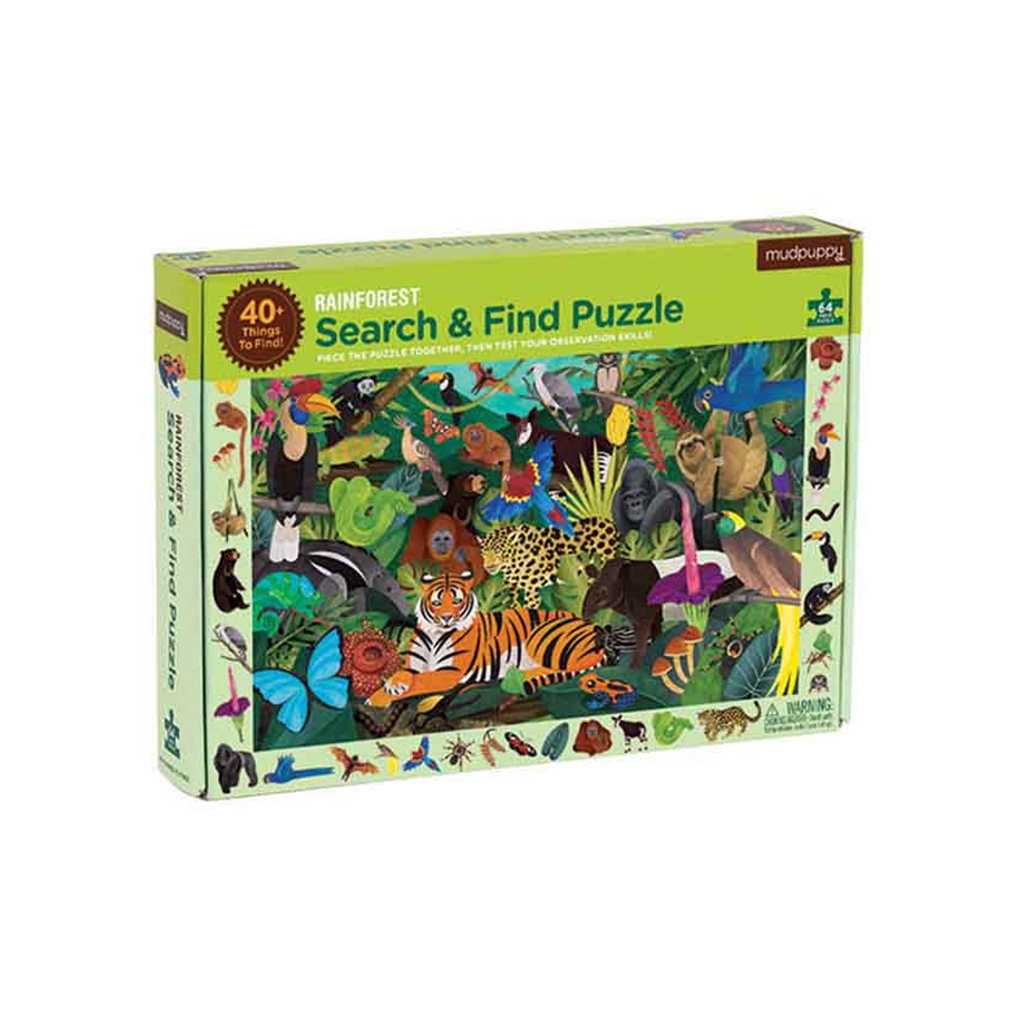 Rainforest search and find puzzle
