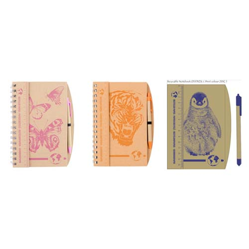 Recycled animal notebooks