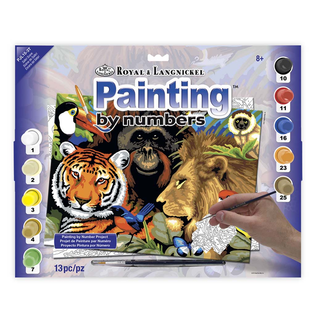 Safari Painting By Numbers Kit