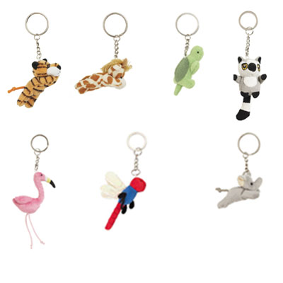 Soft animal keyring