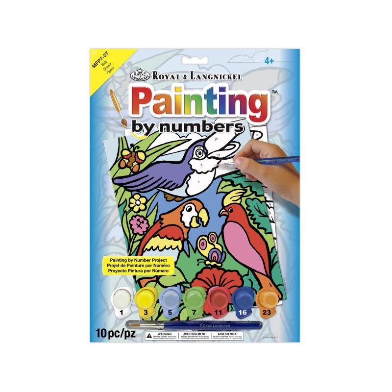 My first birds paint by numbers kit