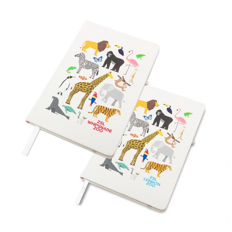 Zoo Animals Hardcover Notebook, A5 White
