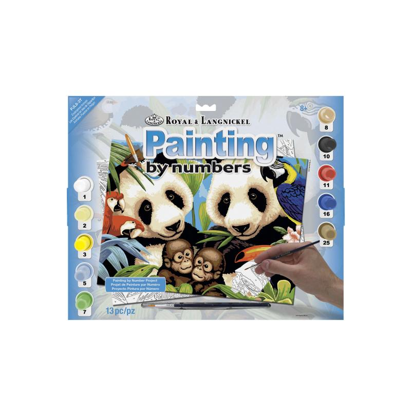 Pandas Painting By Numbers Kit