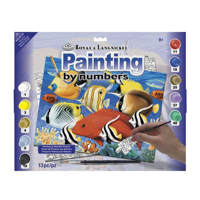 Tropical fish paint by numbers