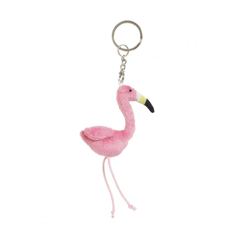 Flamingo soft keyring