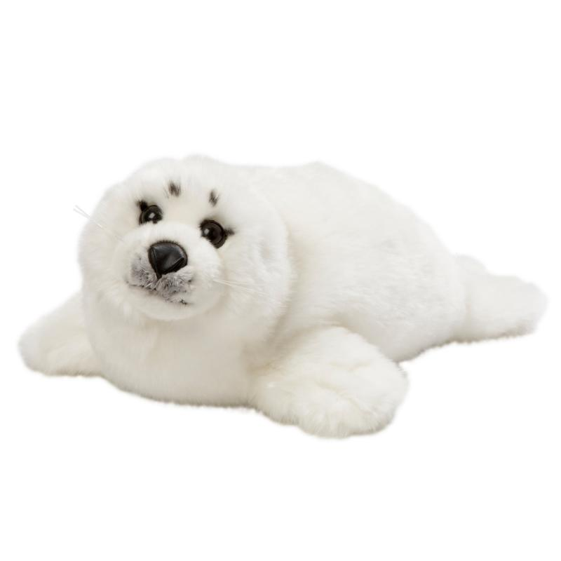 White seal pup soft toy, 40cm