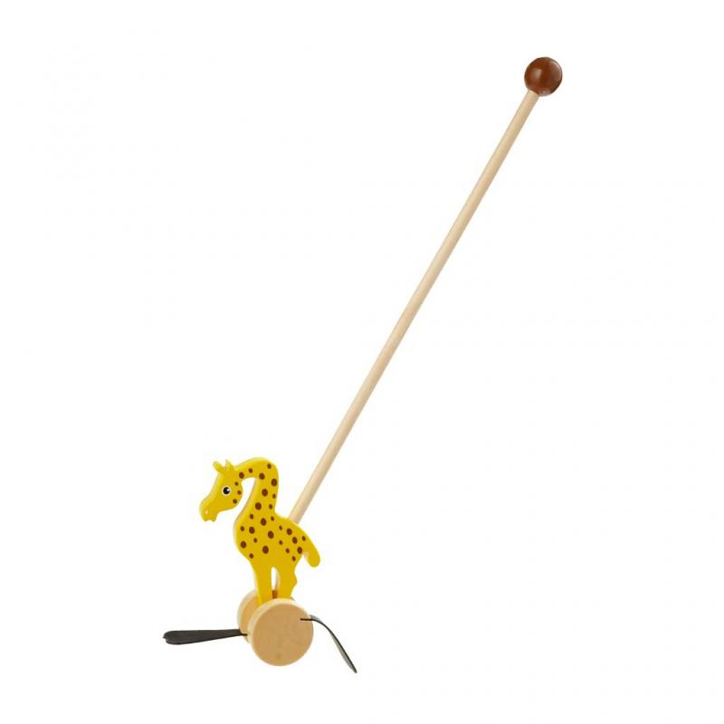 Giraffe Wooden Push Along