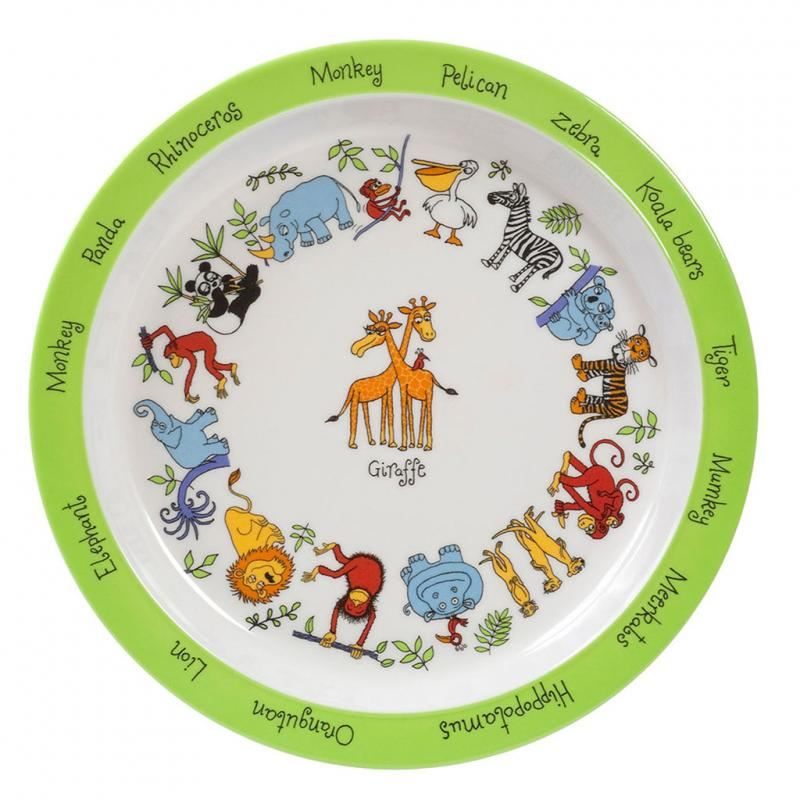 Animal safari plate