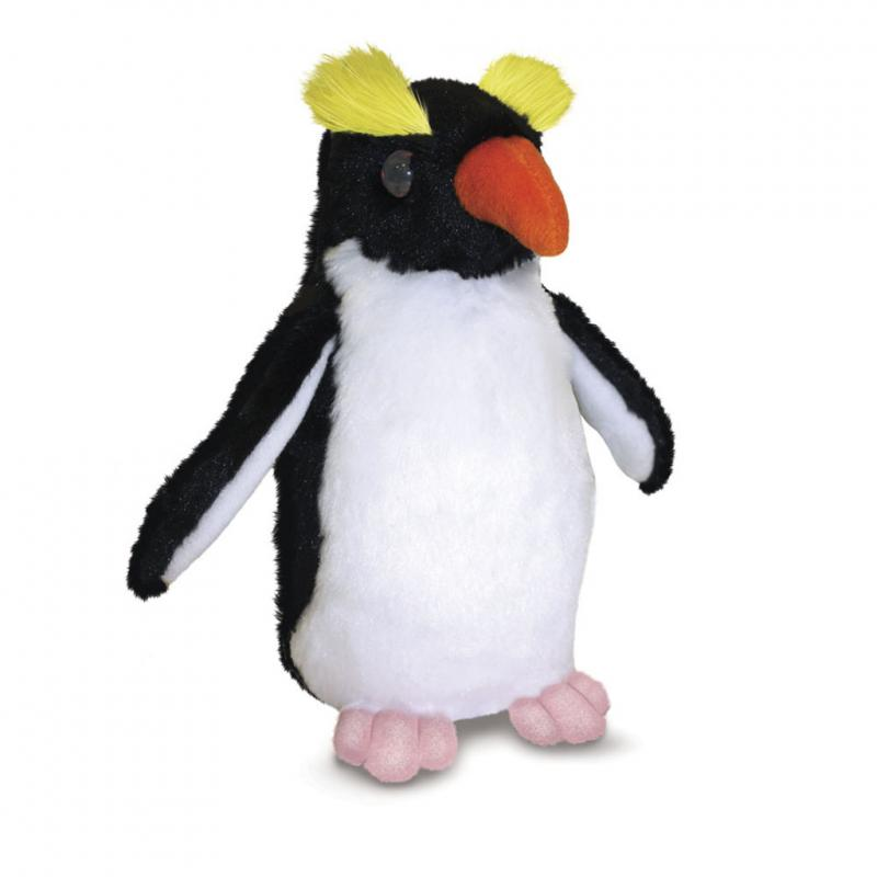 Rockhopper penguin soft toy, 20cm