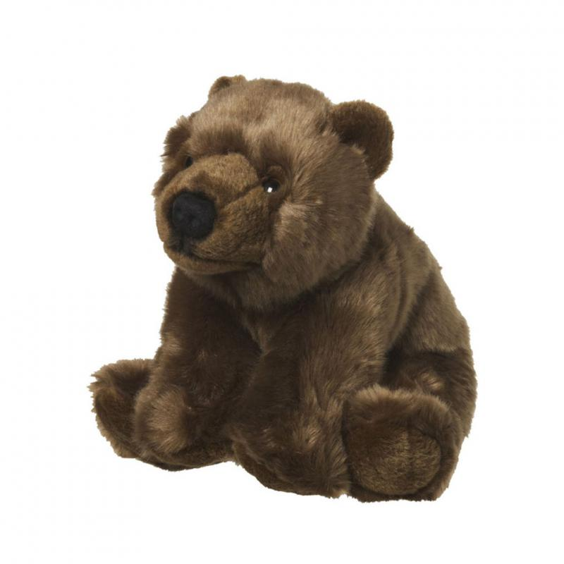 Brown bear soft toy, 22cm