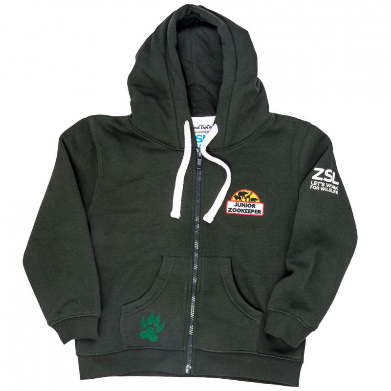 Junior Zoo Keeper hoodie, green, 3-4 years