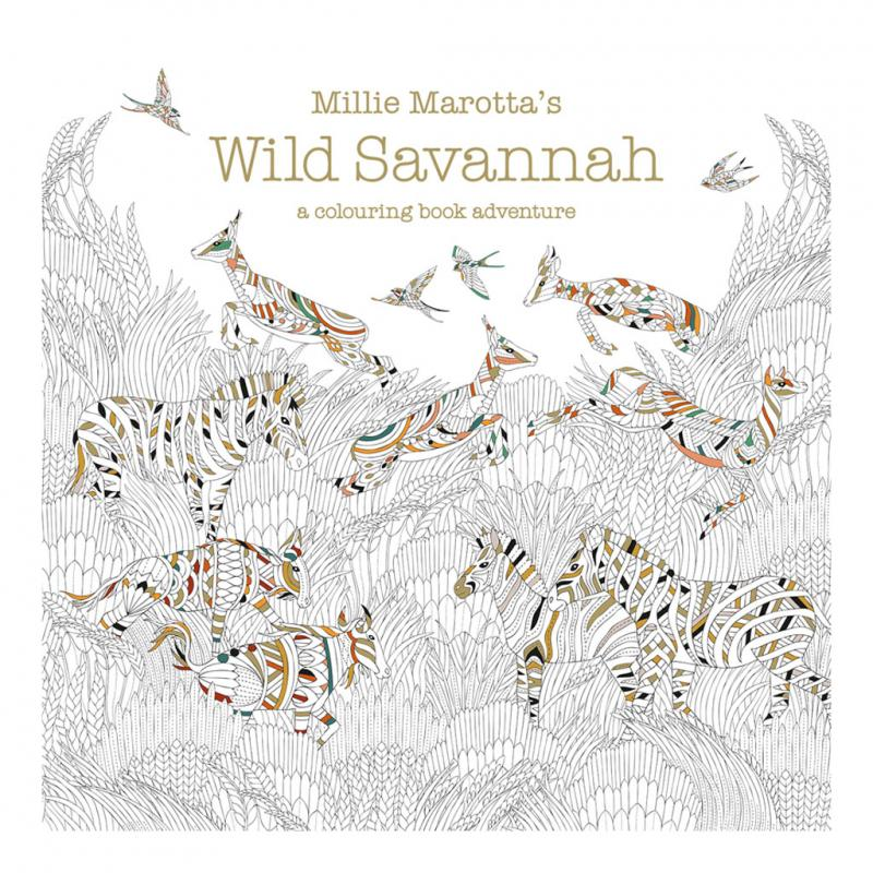 Wild Savannah colouring book