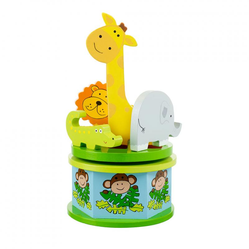 Jungle Safari music box carousel