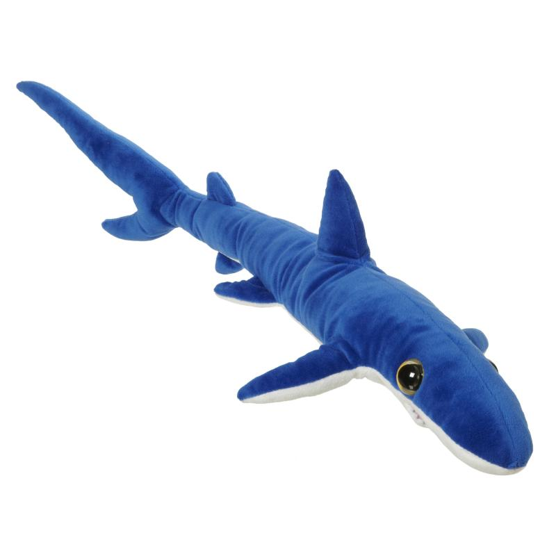 Blue shark soft toy