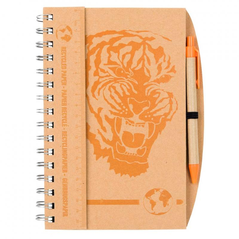 Tiger notebook and pen set