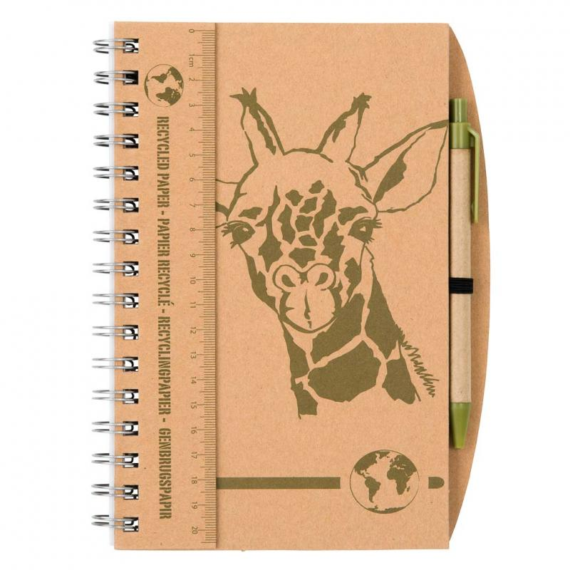 Giraffe notebook and pen set