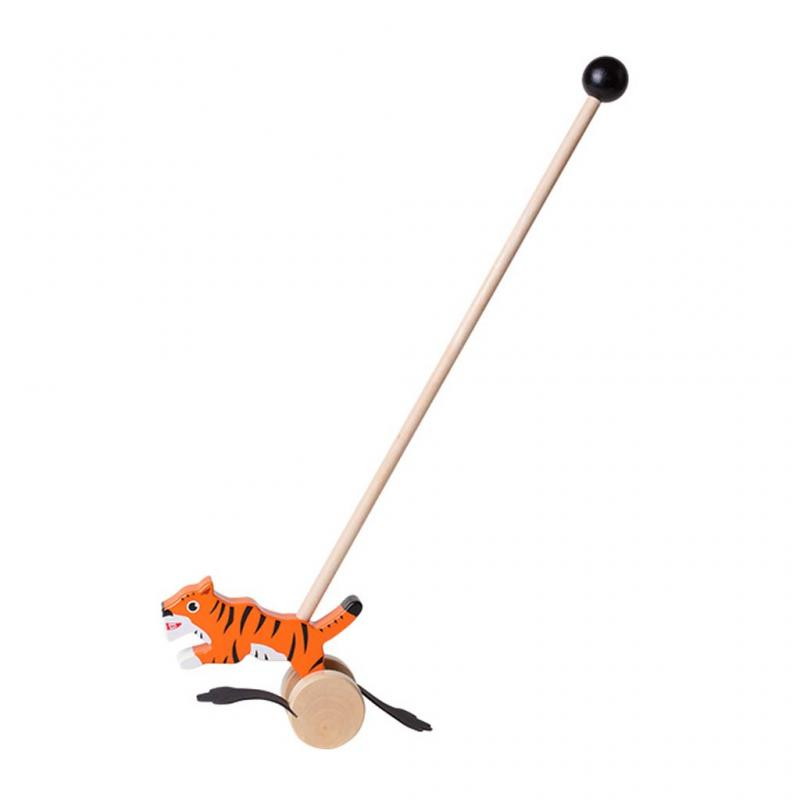 Tiger Wooden Push Along