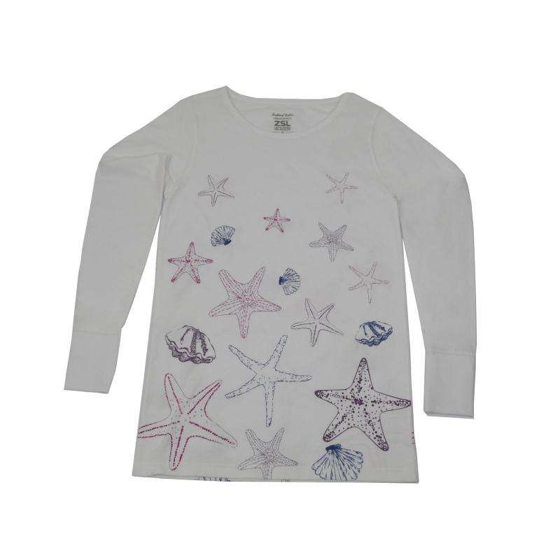 Adult's long sleeved starfish t-shirt