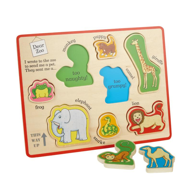 Dear Zoo Wooden Puzzle Play Tray