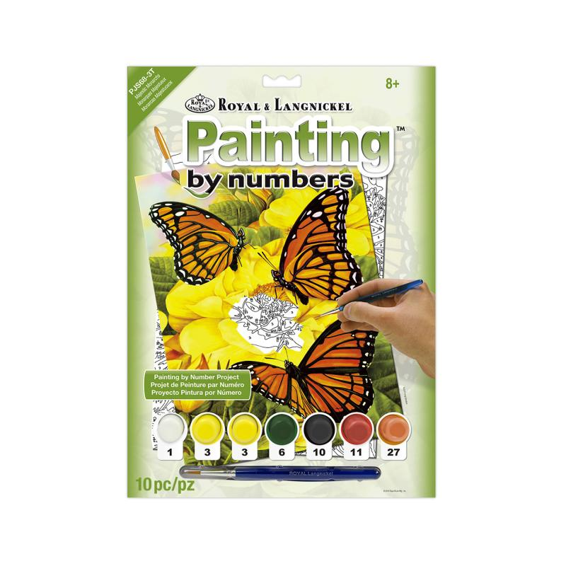 Monarch butterflies paint by number kit