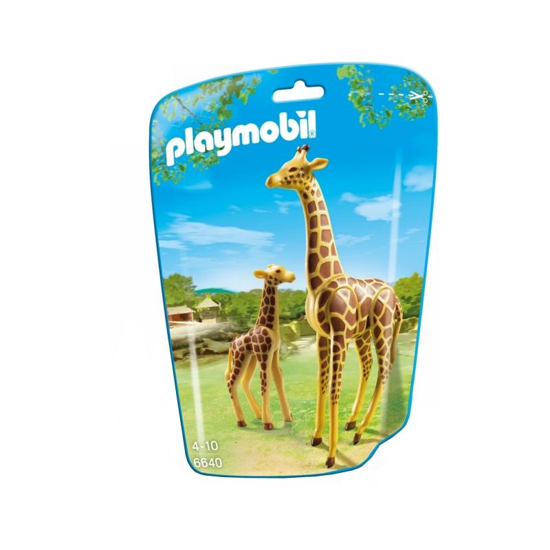 Playmobil Giraffe and calf figures