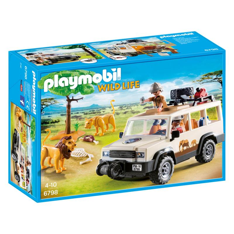 Playmobil Safari truck with lions play set