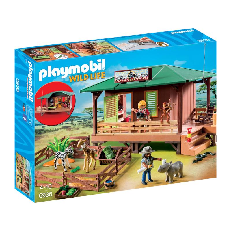 Playmobil ranger station with animal care area