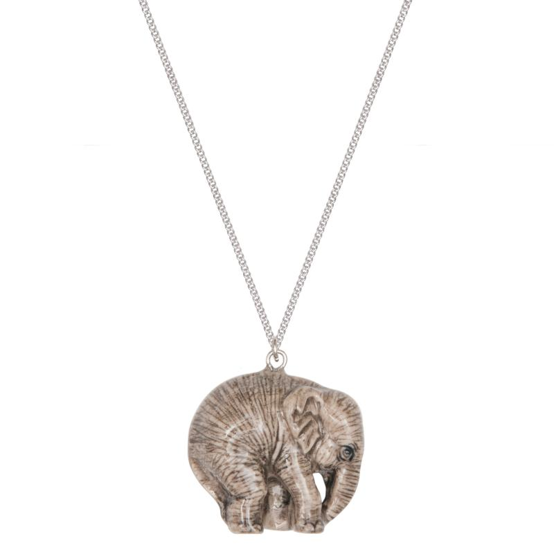 And Mary baby elephant necklace
