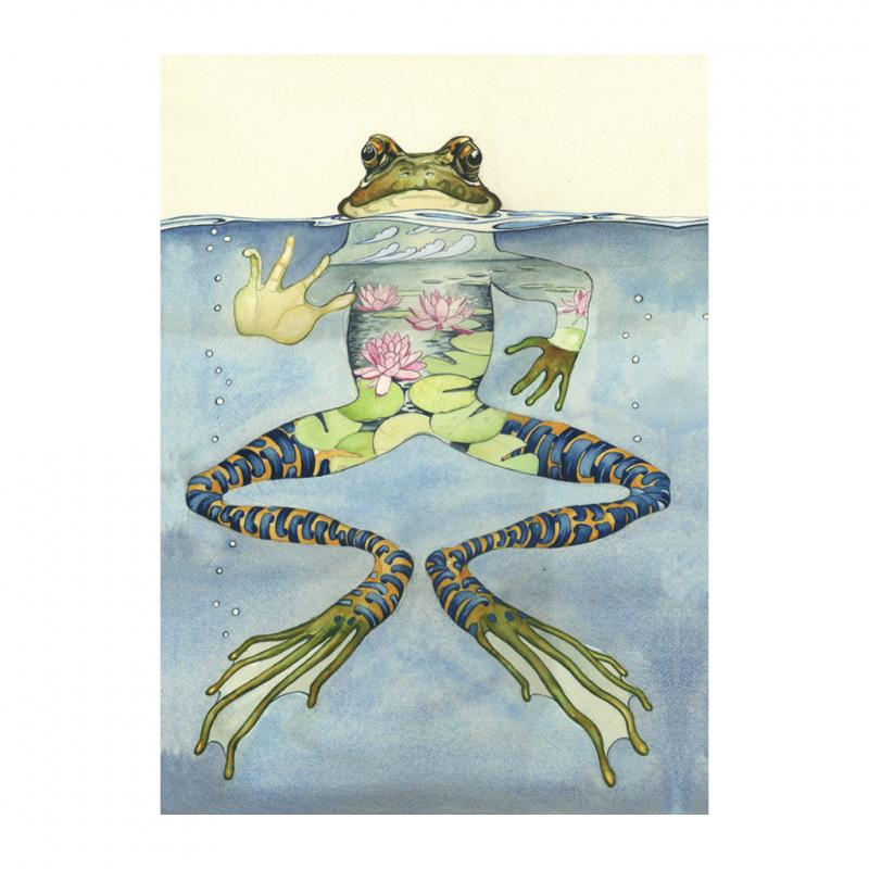 Frog Greetings card