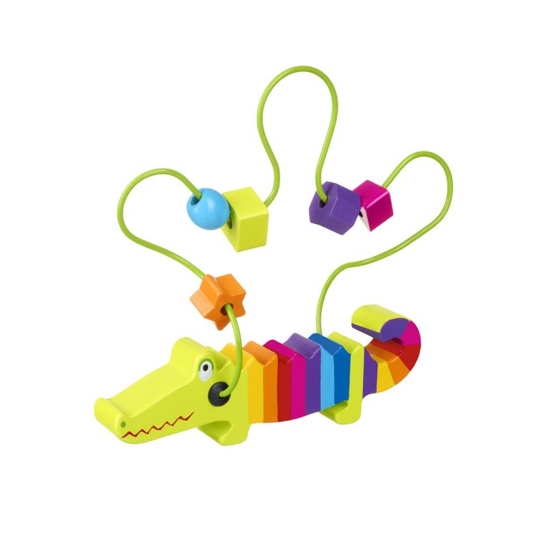 Crocodile bead frame toy