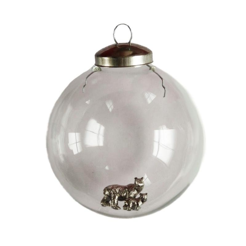 Mother and Bear cub bauble