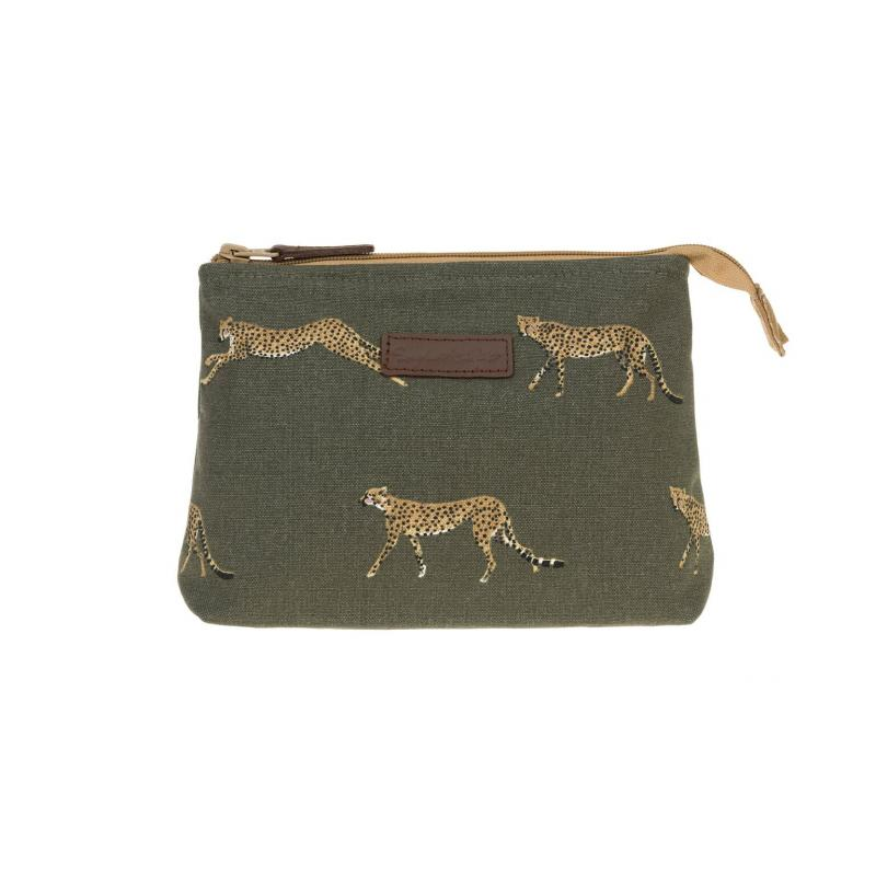 cheetah washbag