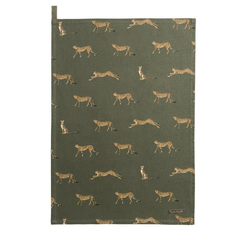 Cheetah Tea Towel
