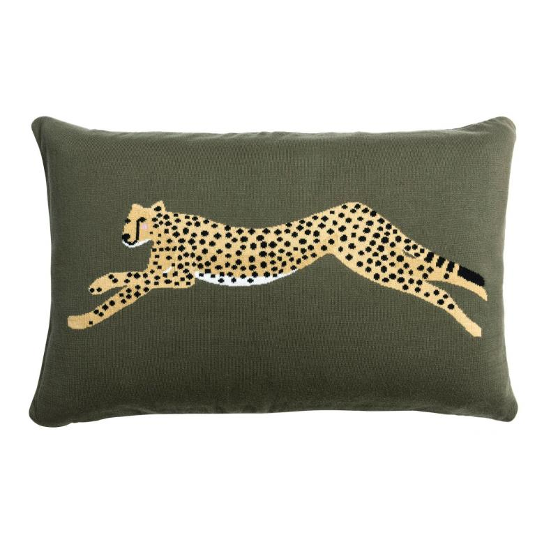 Cheetah Knitted Cushion