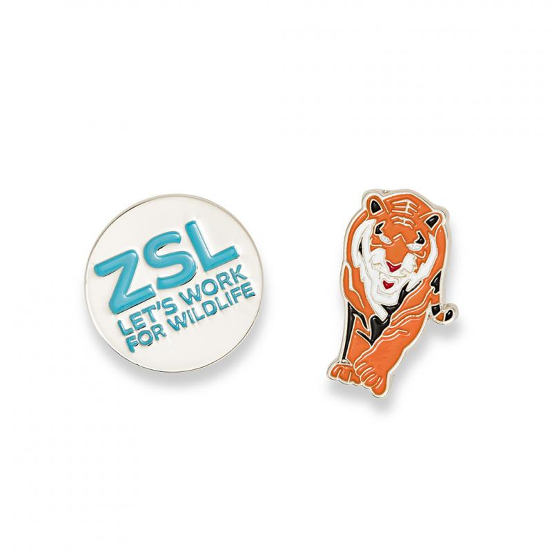 Tiger enamel pin badge