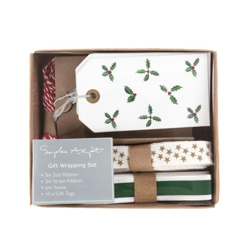 Christmas Holly wrapping set