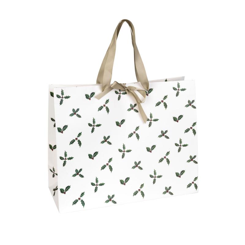 Christmas Holly Gift Bag Large