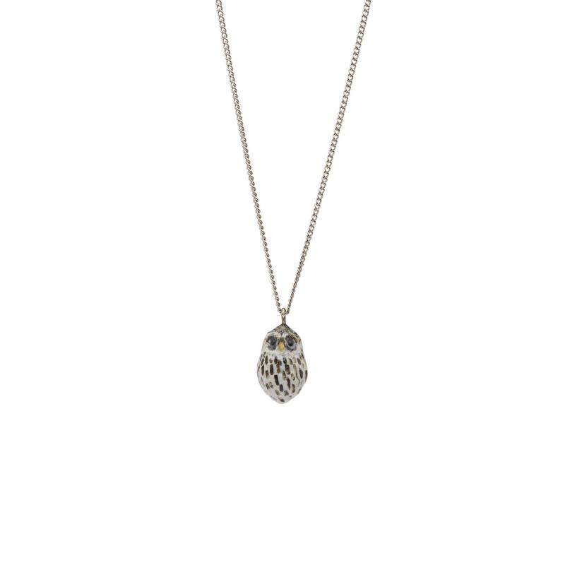 And Mary Baby Owl Necklace