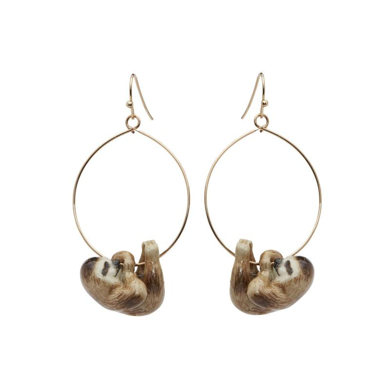 And Mary sloth hoop earrings