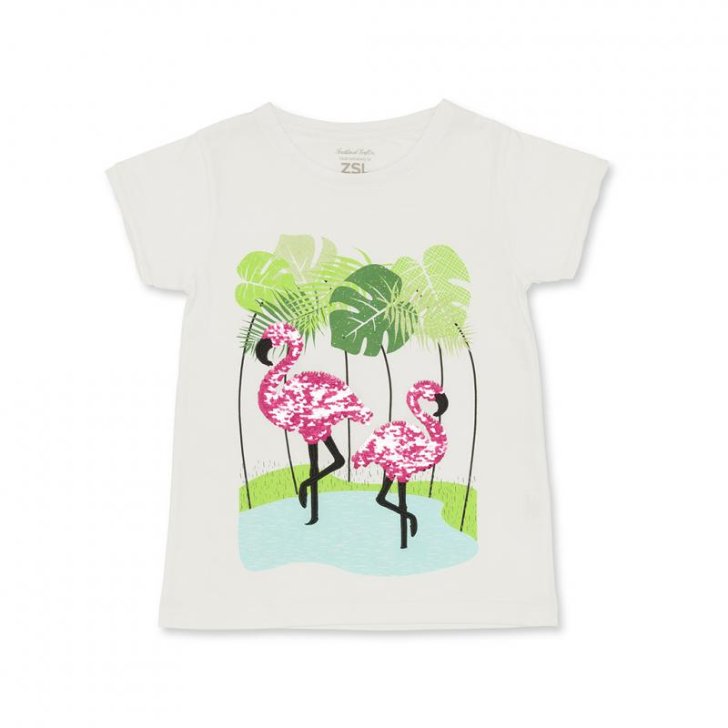 Children's Flamingo Sequin t-shirt
