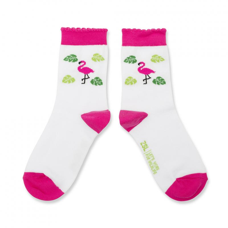Children's flamingo socks