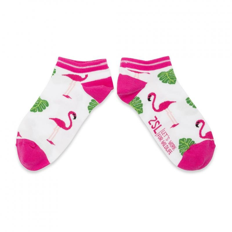 Ladies flamingo ankle socks