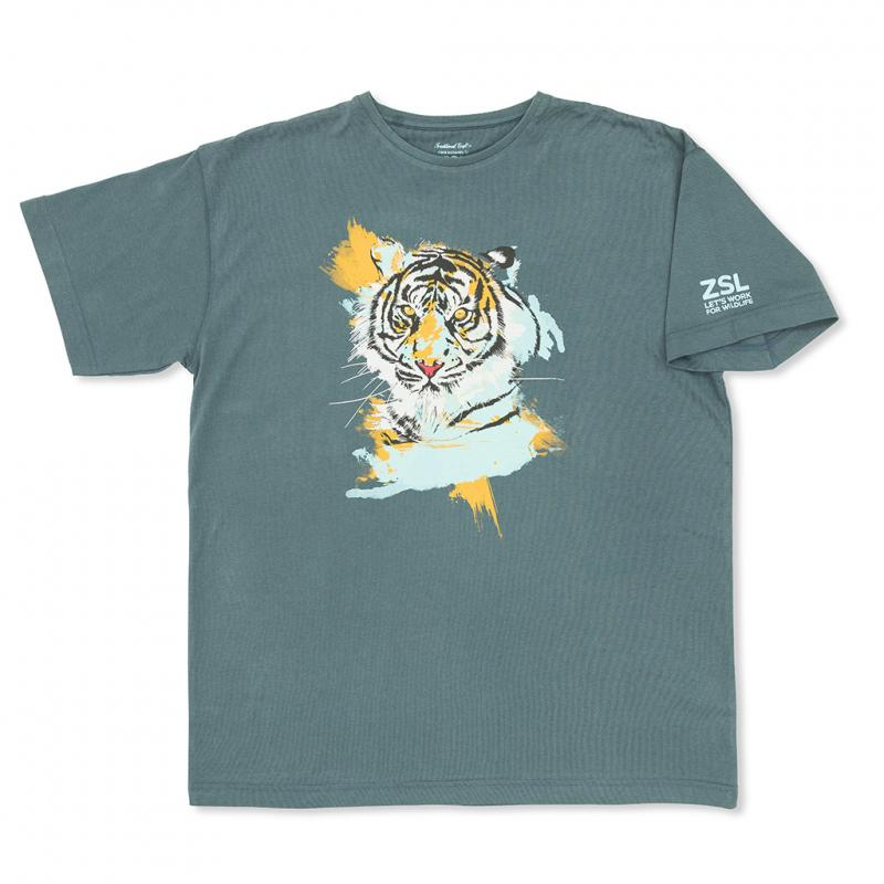 Adult's tiger print t-shirt