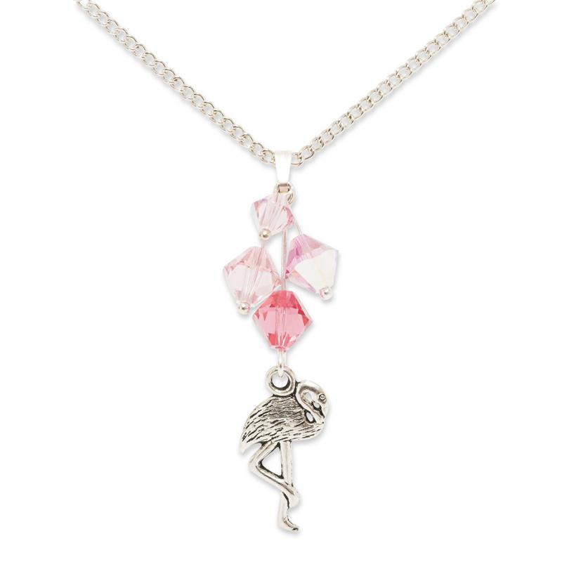 Crystal Flamingo Necklace
